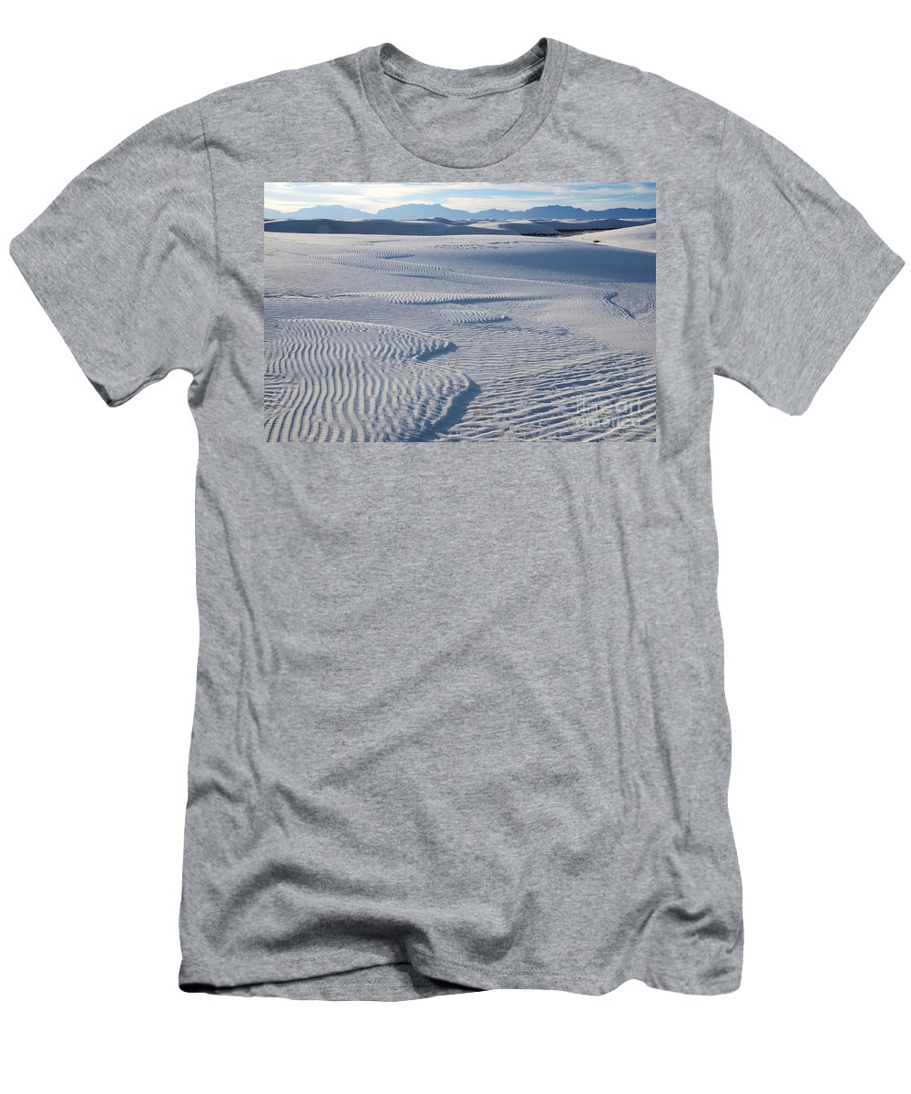 White Sands Men's T-Shirt (Athletic Fit) featuring the photograph Which Way Does The Wind Blow by Vivian Christopher