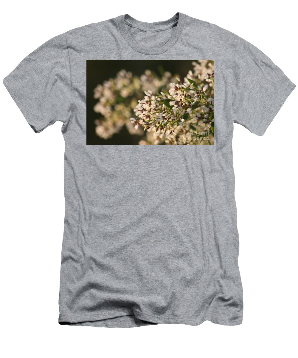 White Men's T-Shirt (Athletic Fit) featuring the photograph White Flowers by Nadine Rippelmeyer
