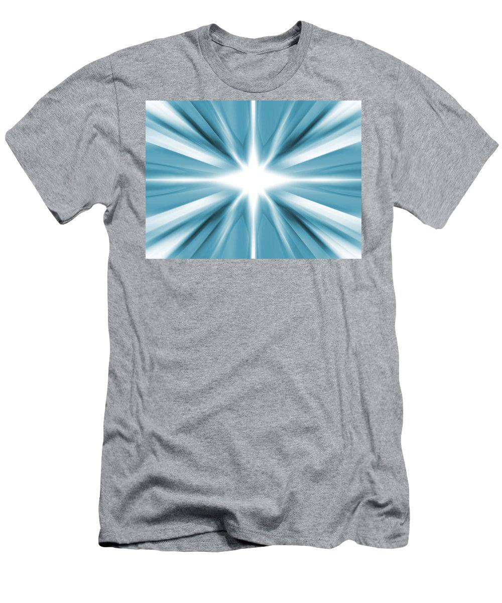 Background Men's T-Shirt (Athletic Fit) featuring the digital art White Star by Steve Ball