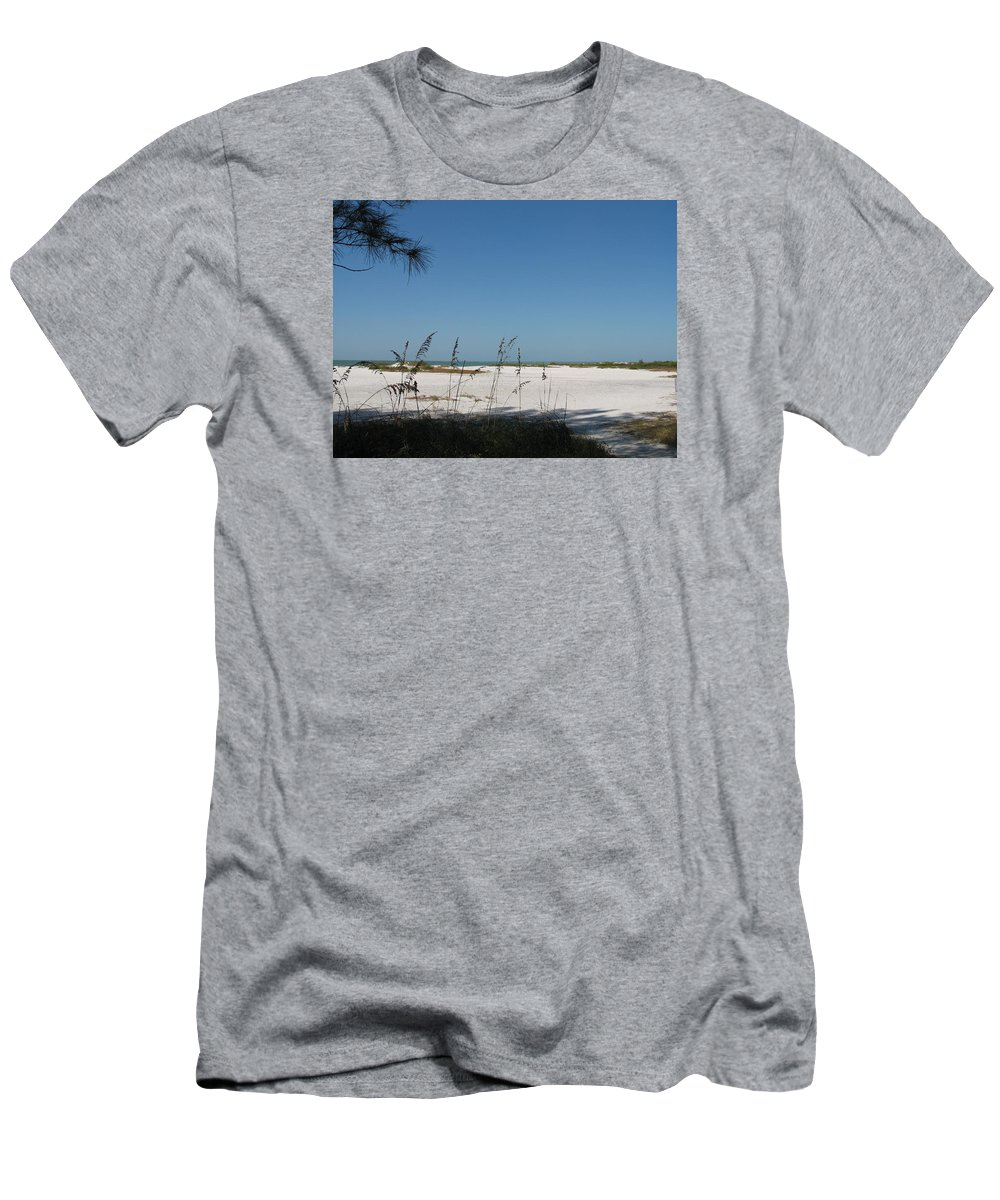 Beach Men's T-Shirt (Athletic Fit) featuring the photograph Whitesand Beach by Christiane Schulze Art And Photography