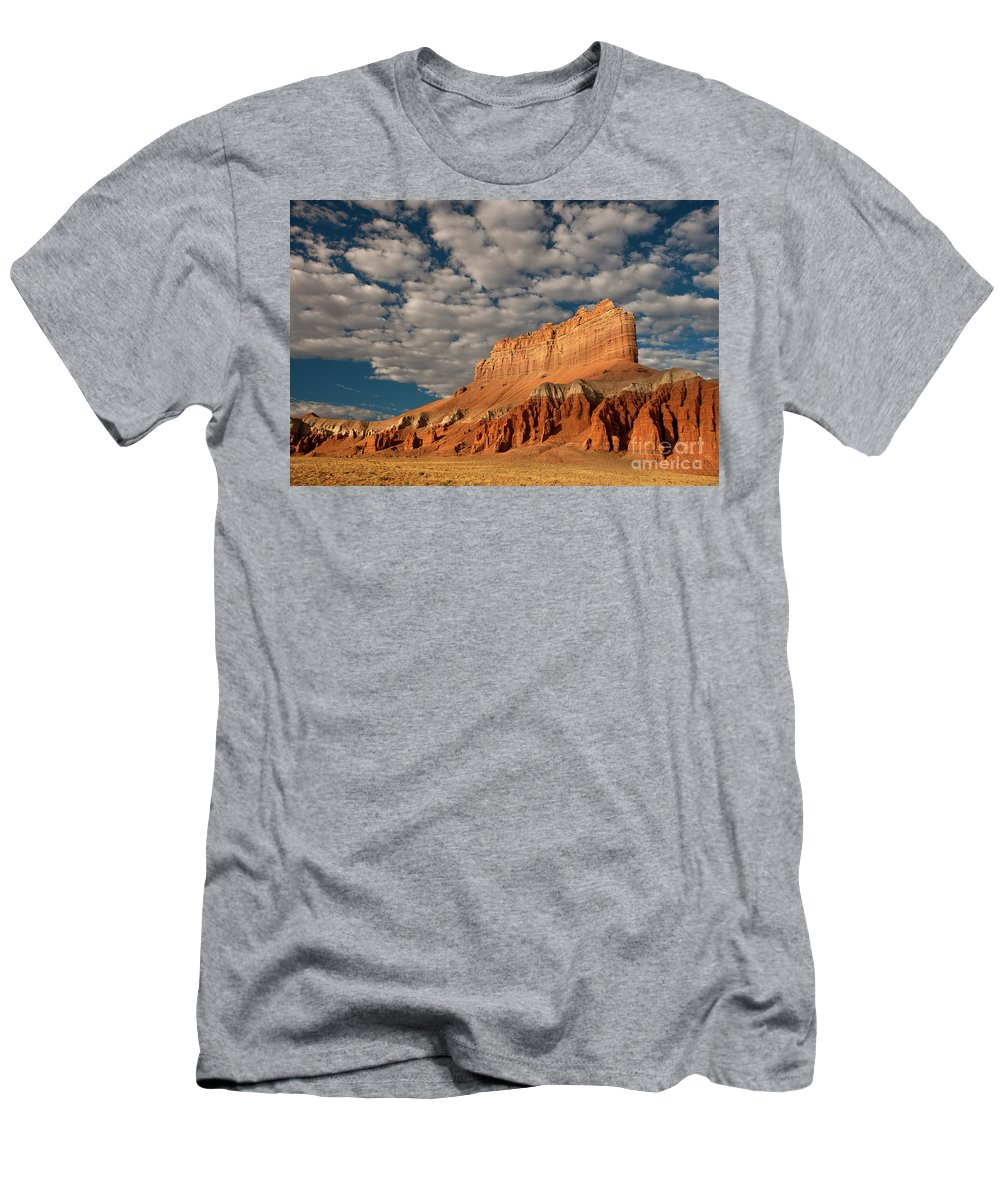 North America Men's T-Shirt (Athletic Fit) featuring the photograph Wild Horse Butte Goblin Valley Utah by Dave Welling