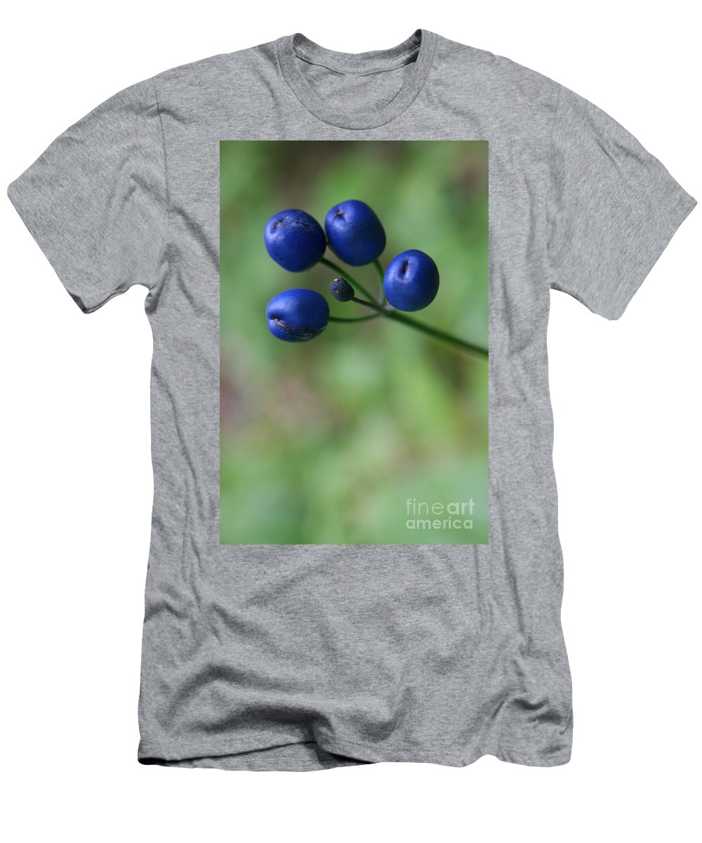 Bluebead Lily Men's T-Shirt (Athletic Fit) featuring the photograph Wild New Hampshire Bluebead Lily by Neal Eslinger