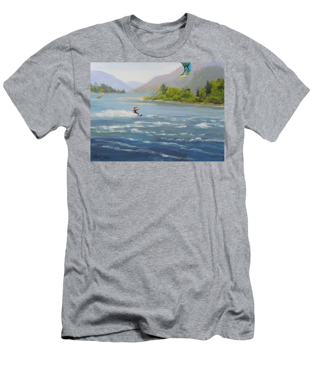 Wind T-Shirt featuring the painting Wind and Water by Karen Ilari