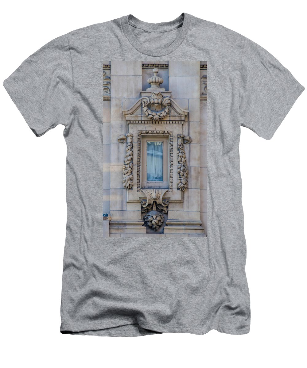 Guy Whiteley Photography Men's T-Shirt (Athletic Fit) featuring the photograph Window Across The Street by Guy Whiteley