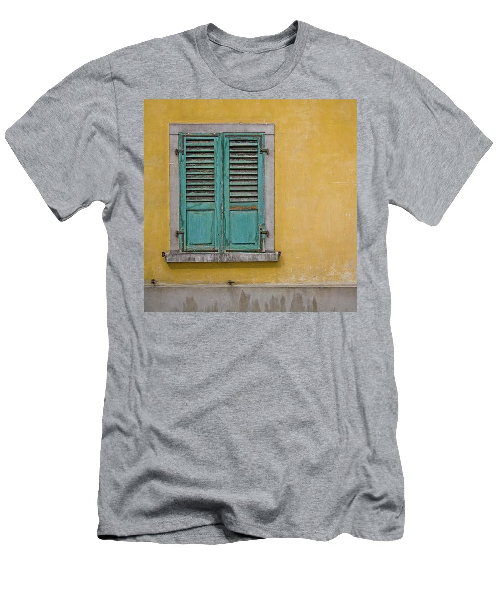 Window Men's T-Shirt (Athletic Fit) featuring the photograph Window Shutter by Heiko Koehrer-Wagner
