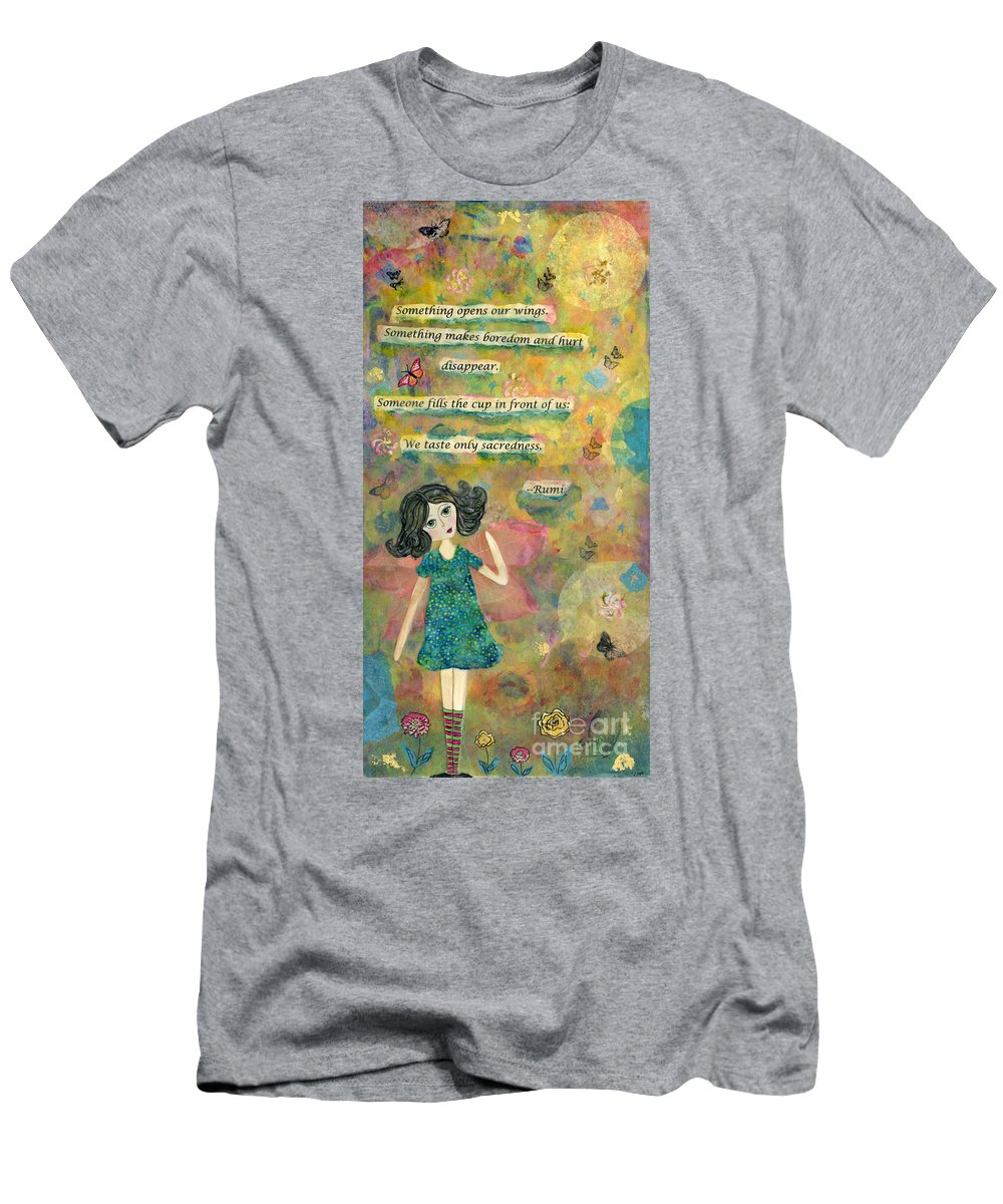 Butterflies Men's T-Shirt (Athletic Fit) featuring the mixed media Wings by AnaLisa Rutstein