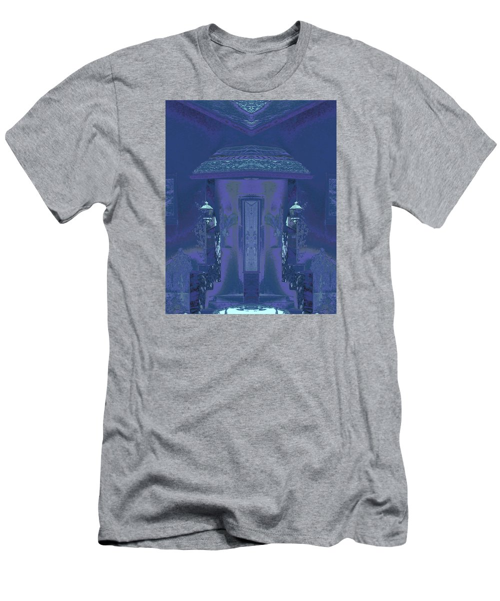 House Men's T-Shirt (Athletic Fit) featuring the photograph Winter Dusk Homecoming by Don and Judi Hall
