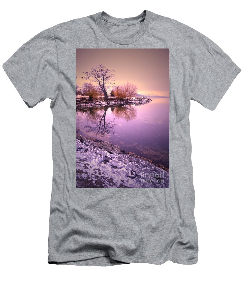 Winter Men's T-Shirt (Athletic Fit) featuring the photograph Winter Light Reflected by Tara Turner