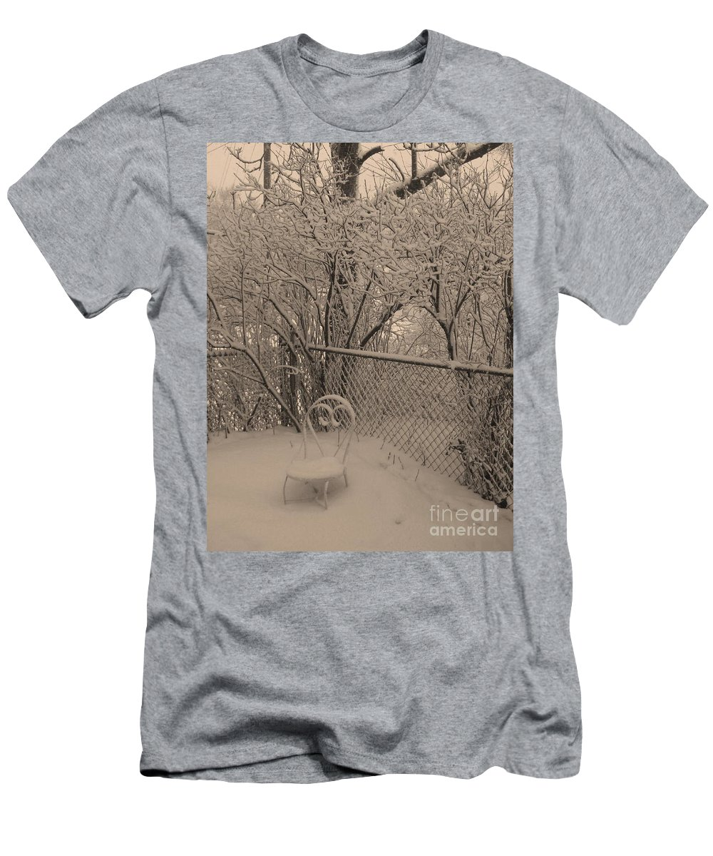 Sepia Men's T-Shirt (Athletic Fit) featuring the photograph Winter Of One by Adri Turner