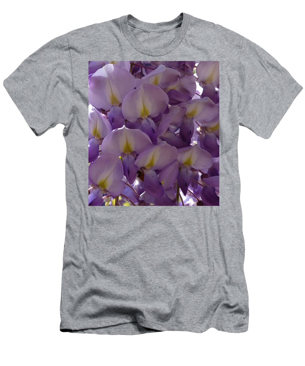 Purple Men's T-Shirt (Athletic Fit) featuring the photograph Wisteria Hysteria by Claudia Goodell