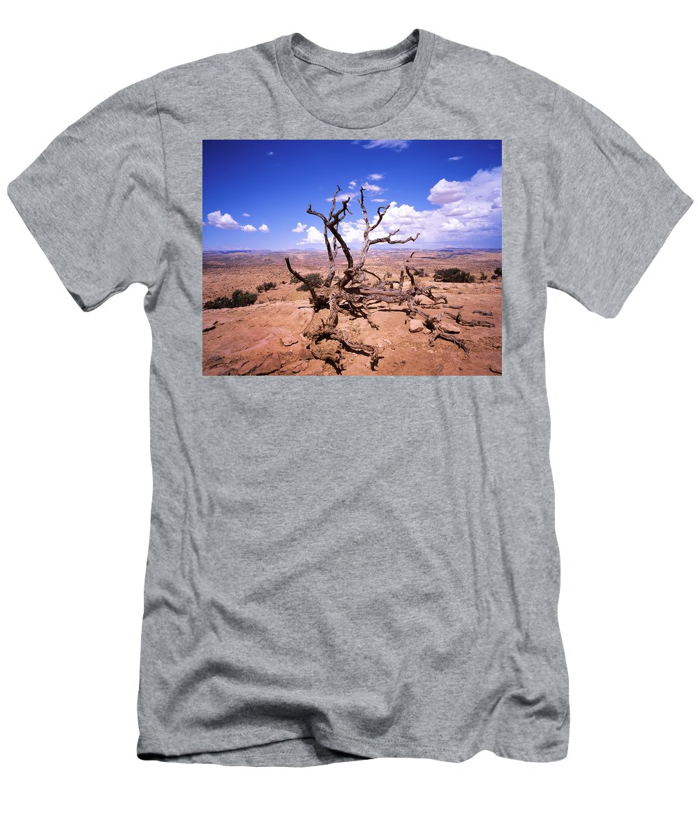 Tree Men's T-Shirt (Athletic Fit) featuring the photograph Withered Tree Paria Canyon by Rich Franco