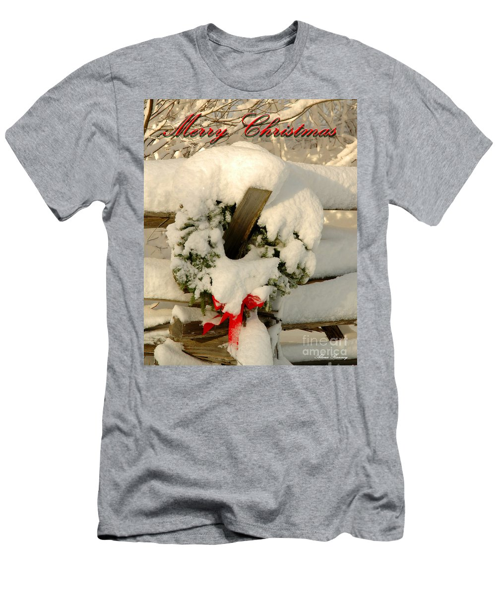 Wreath Men's T-Shirt (Athletic Fit) featuring the photograph Wreath by Alana Ranney
