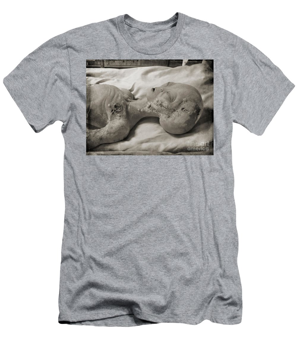 X File Evidence Collector Men's T-Shirt (Athletic Fit) featuring the photograph X Files Fan by John Malone