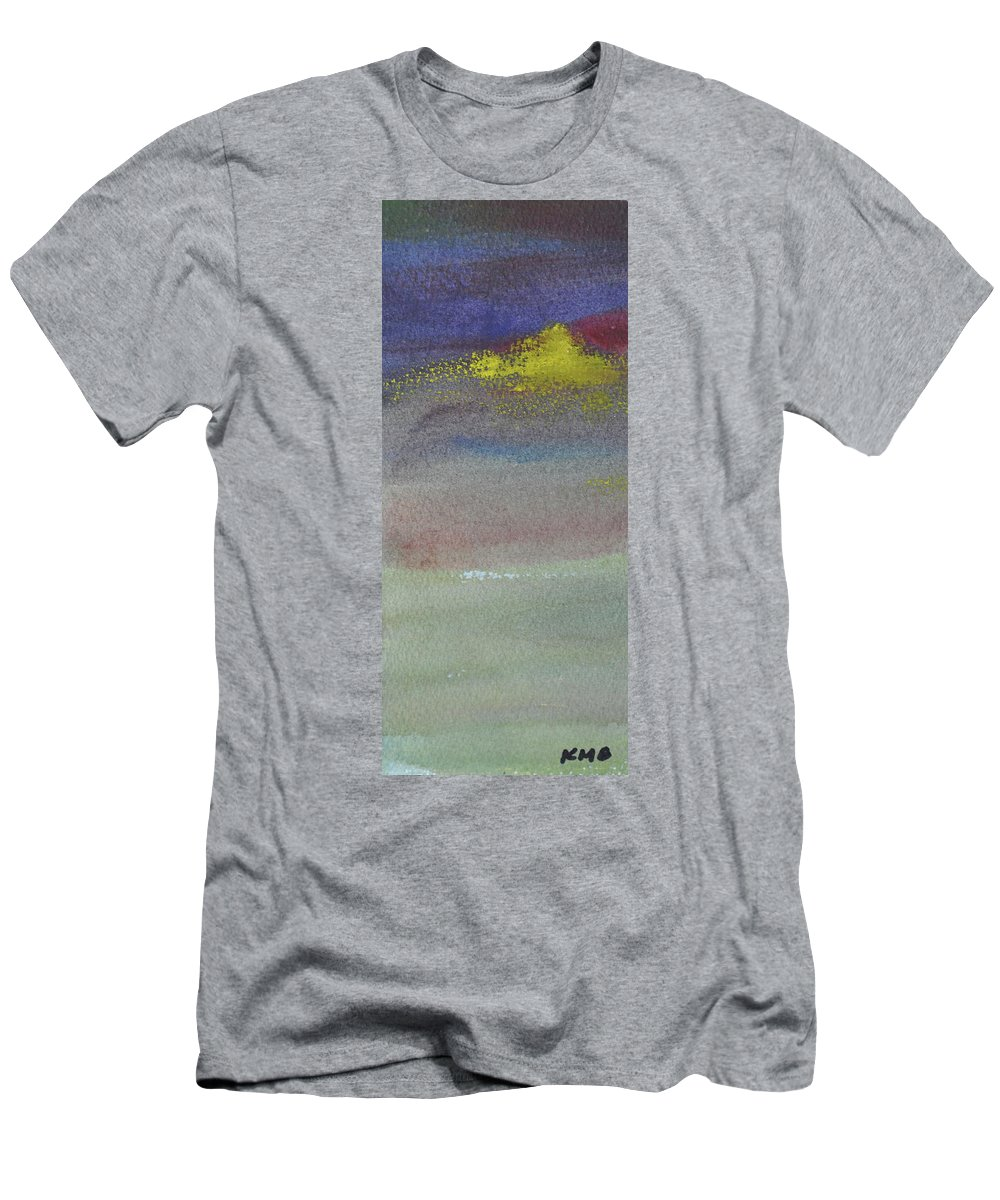 Abstract Men's T-Shirt (Athletic Fit) featuring the painting Yellow Emerges by Kimberly Maxwell Grantier