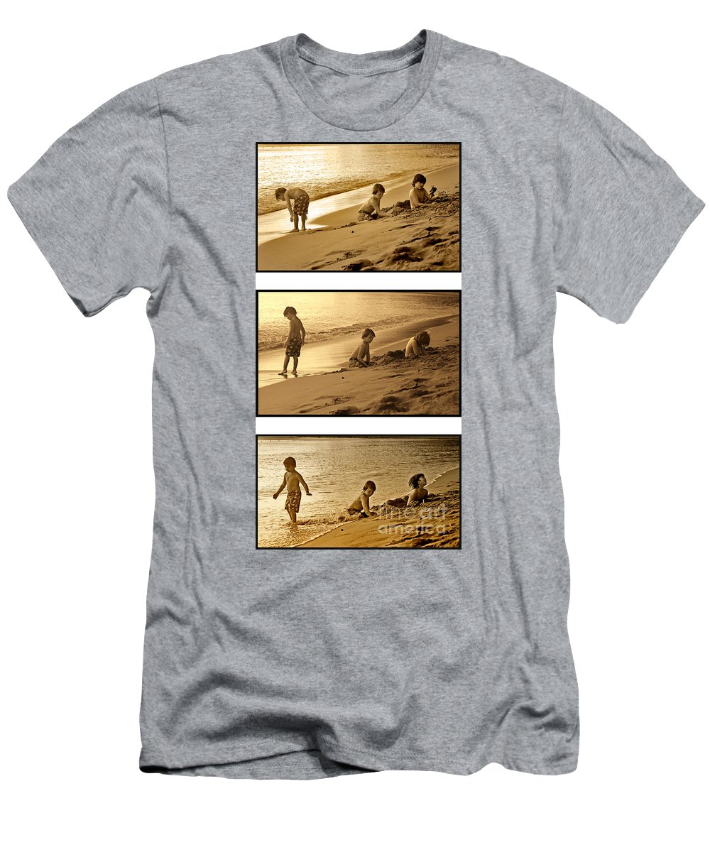Youth Men's T-Shirt (Athletic Fit) featuring the photograph Youth Tryptich by Madeline Ellis
