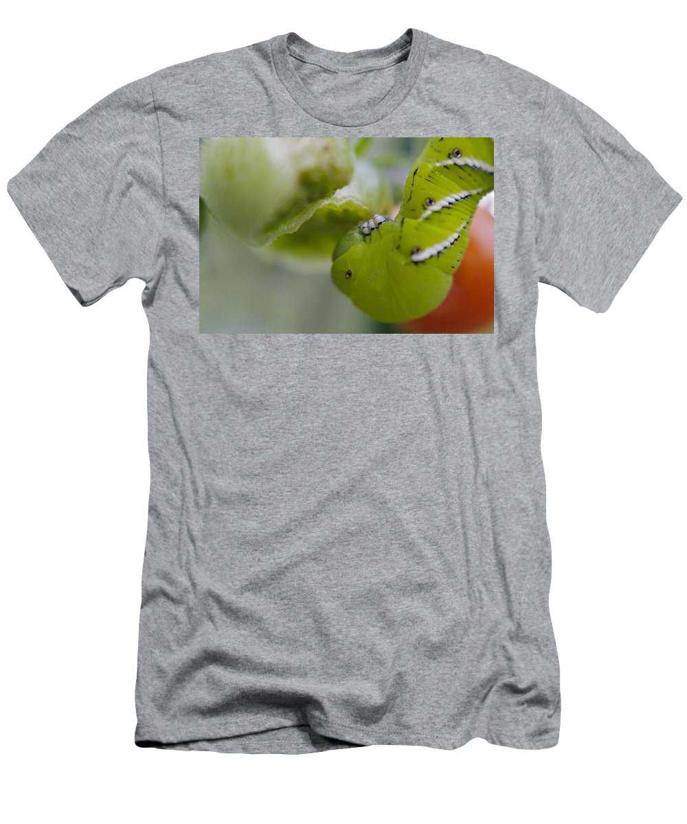 Green Men's T-Shirt (Athletic Fit) featuring the photograph Yum by Natalie Rotman Cote