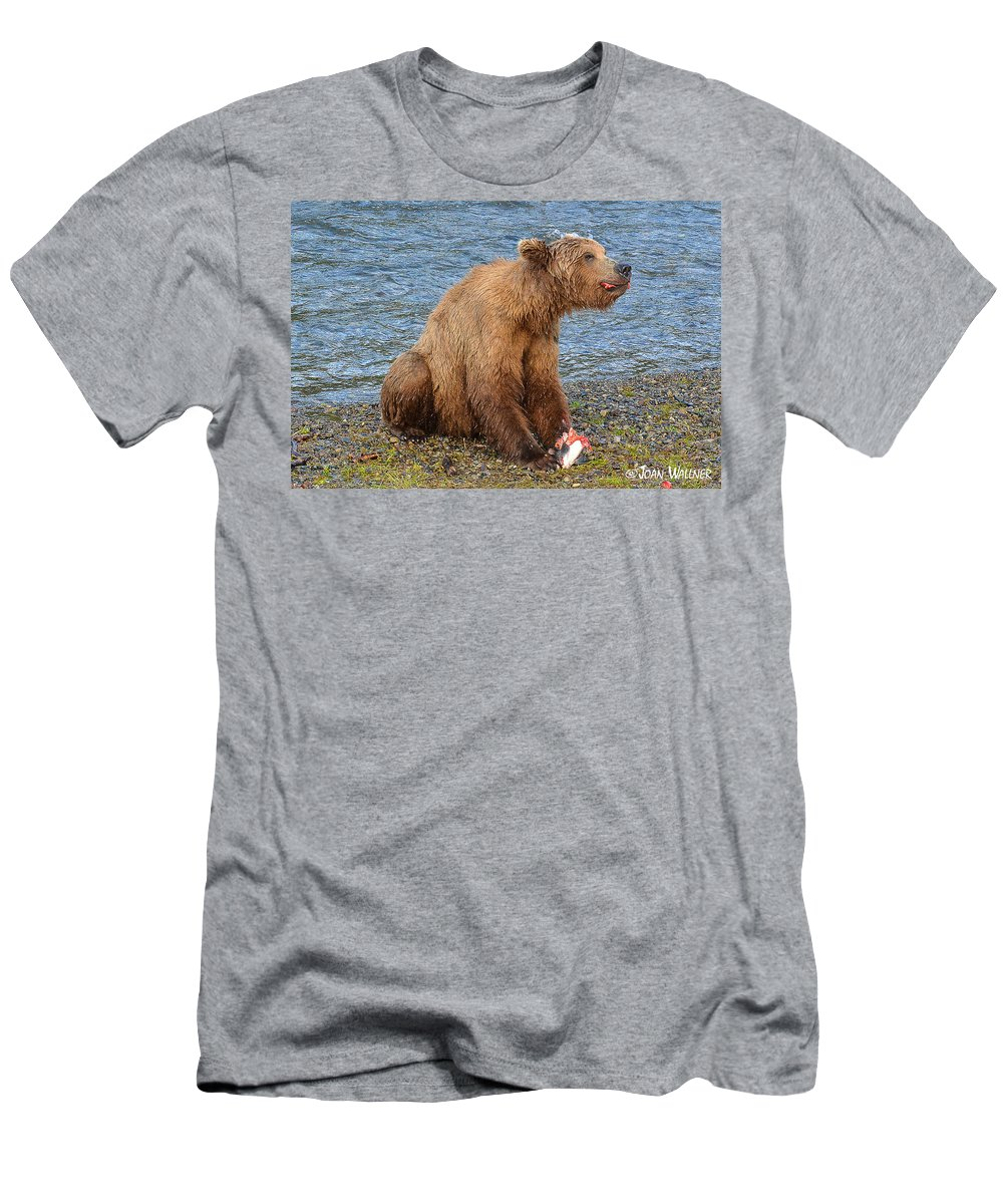 Alaska Men's T-Shirt (Athletic Fit) featuring the photograph Yummy Salmon by Joan Wallner