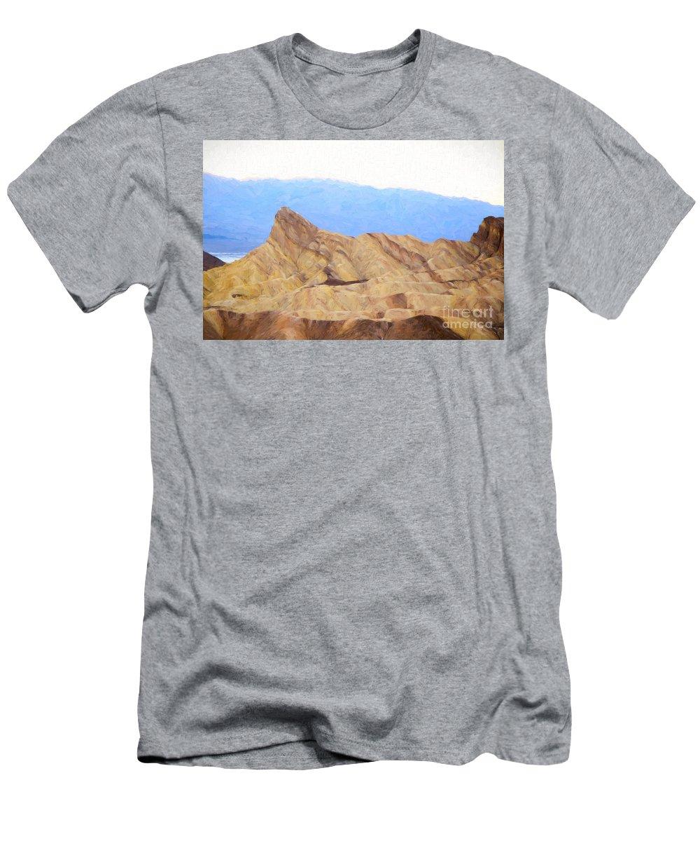 America Men's T-Shirt (Athletic Fit) featuring the photograph Zabriskie Point by Les Palenik