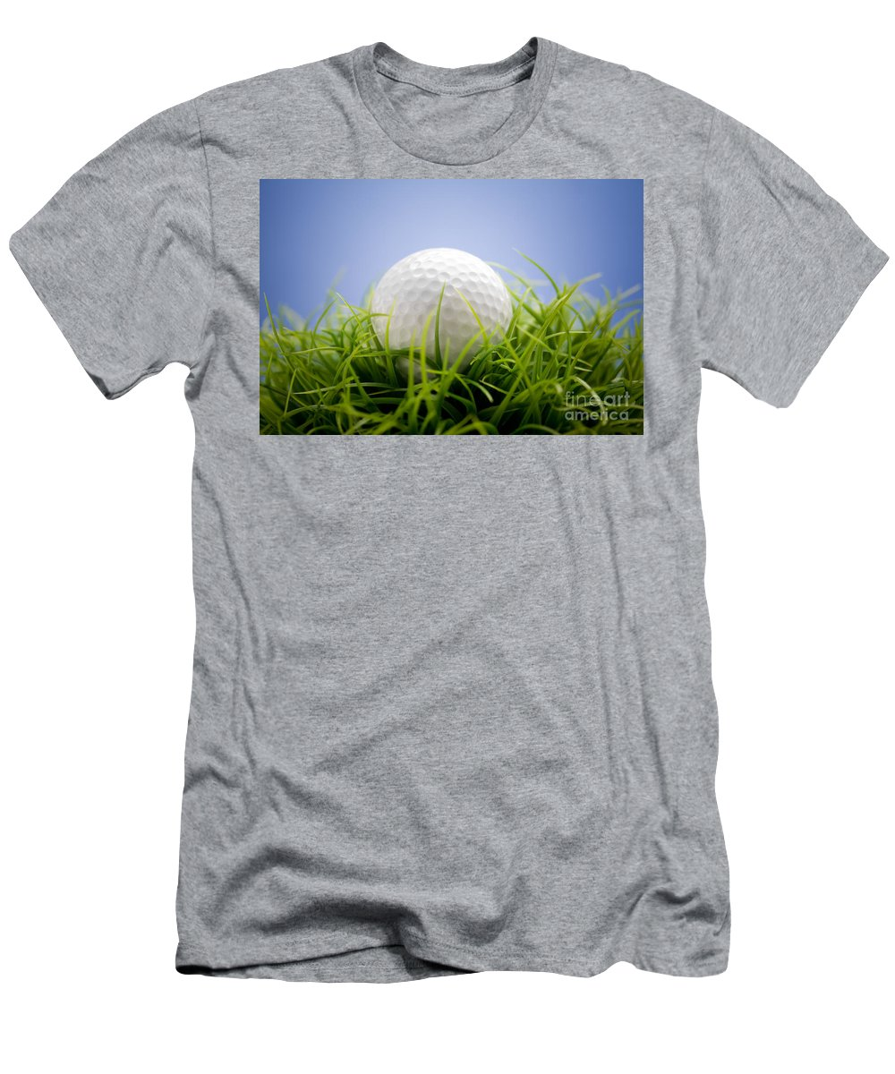Activity Men's T-Shirt (Athletic Fit) featuring the photograph Golfball by Kati Finell