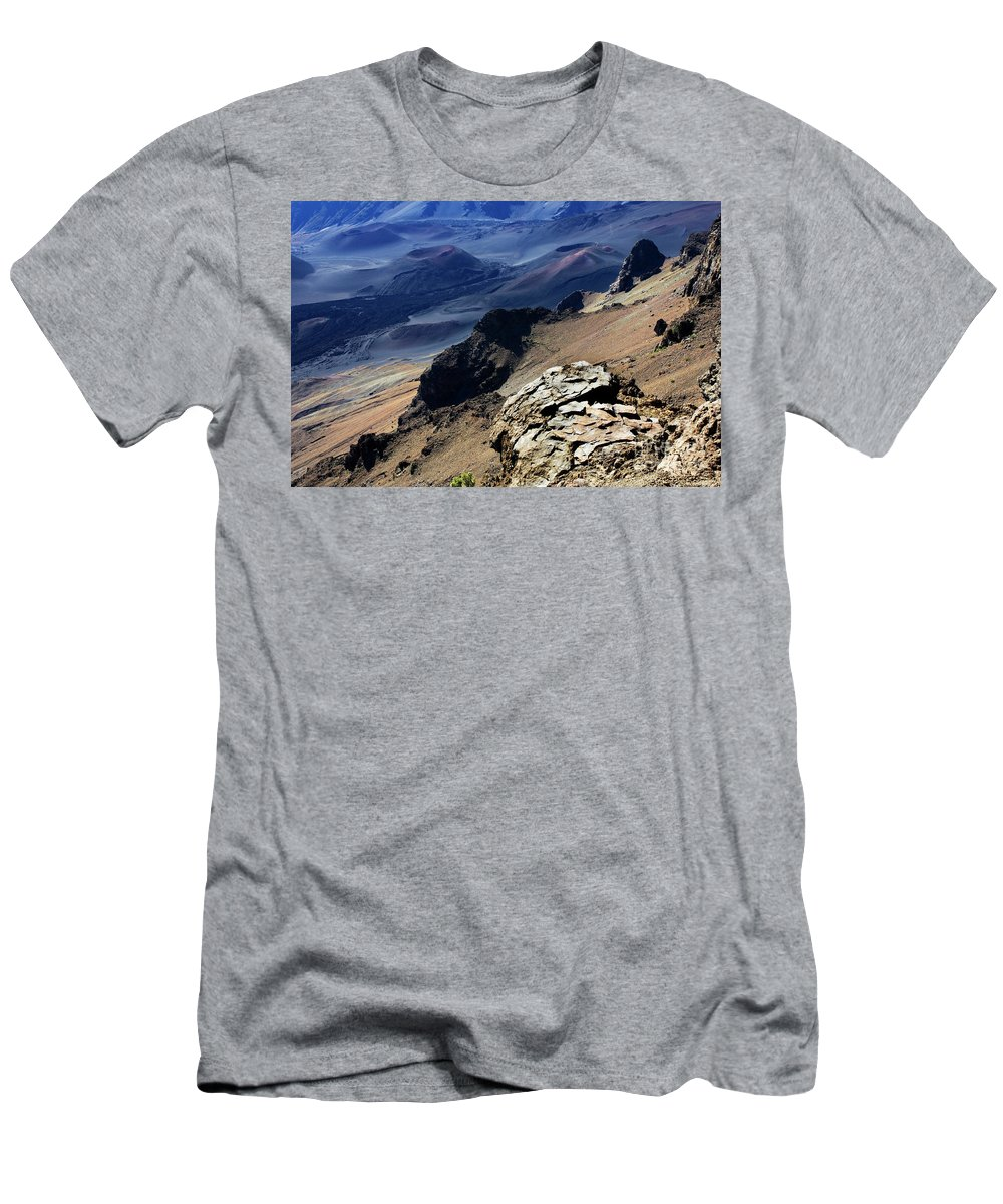 Haleakala Crater Men's T-Shirt (Athletic Fit) featuring the photograph Haleakala Crater by Bob Christopher