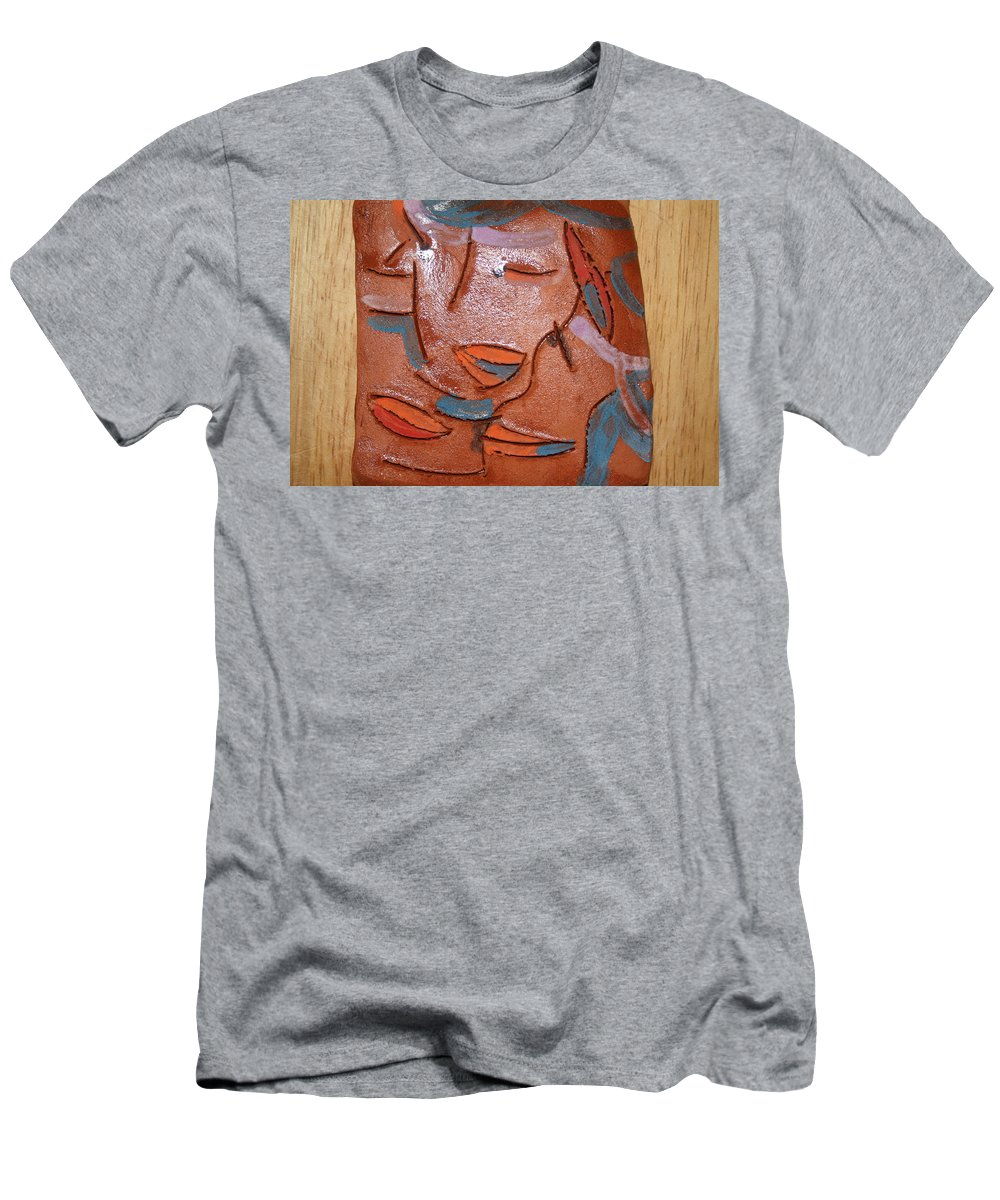 Jesus Men's T-Shirt (Athletic Fit) featuring the ceramic art Hugs - Tile by Gloria Ssali