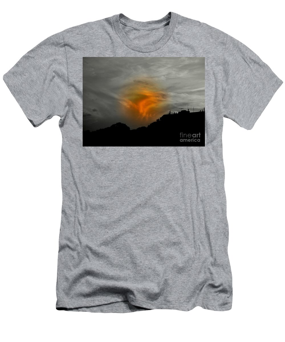 Sunset Men's T-Shirt (Athletic Fit) featuring the photograph July 4 2009 by Mark Gilman
