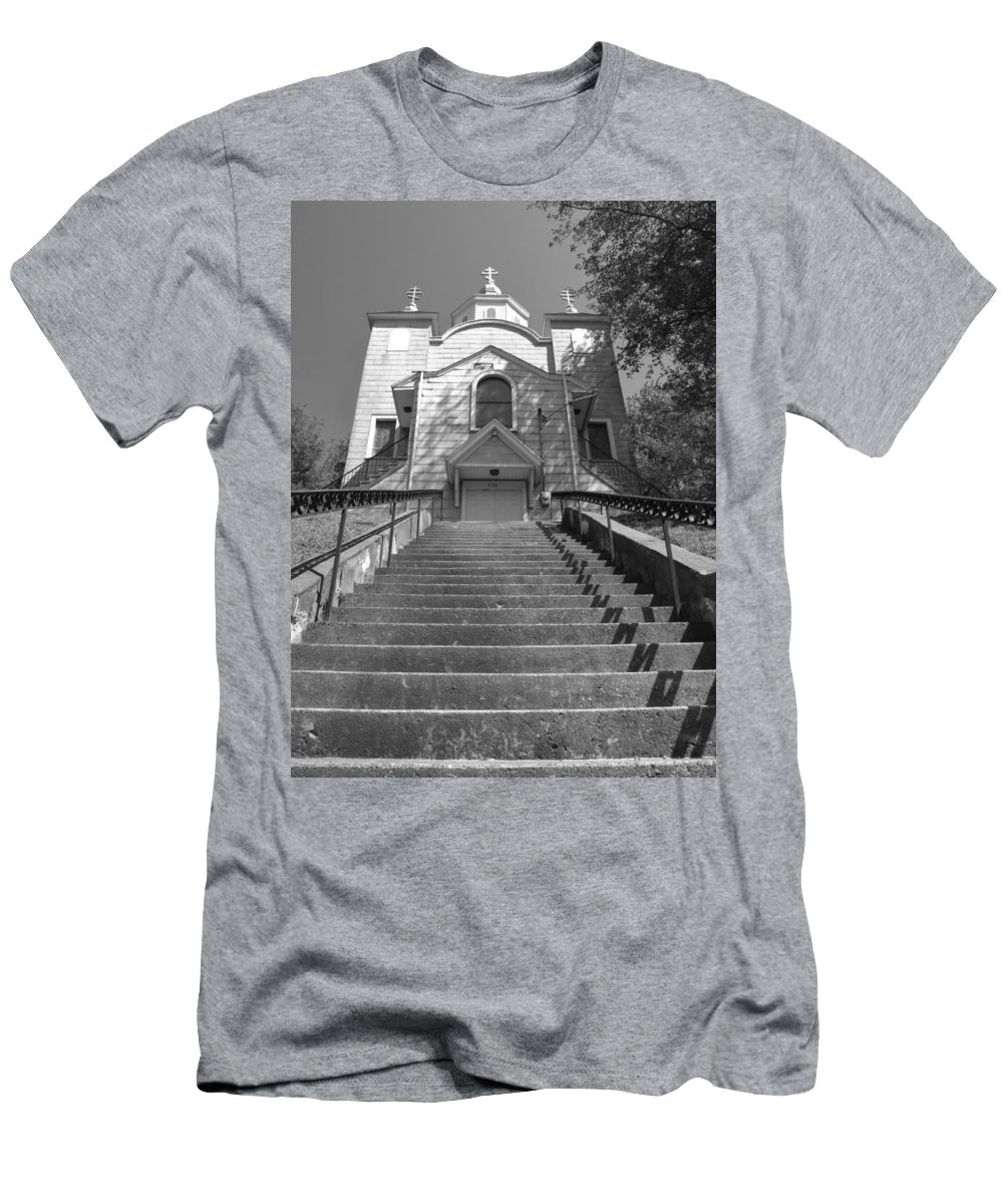 silent Hill Church Men's T-Shirt (Athletic Fit) featuring the photograph Old Church by Michele Nelson