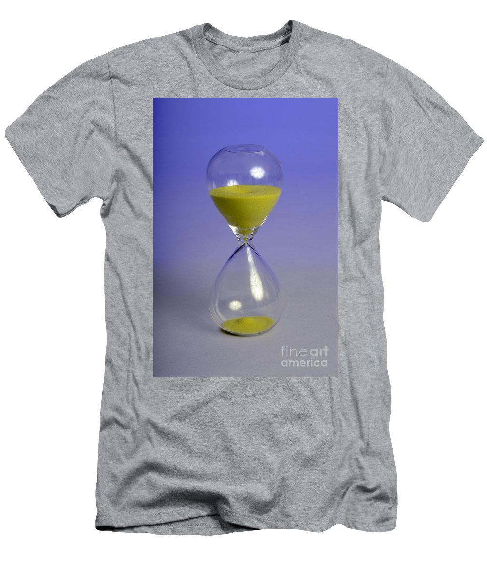 Chronometry Men's T-Shirt (Athletic Fit) featuring the photograph Sand Timer by Photo Researchers, Inc.
