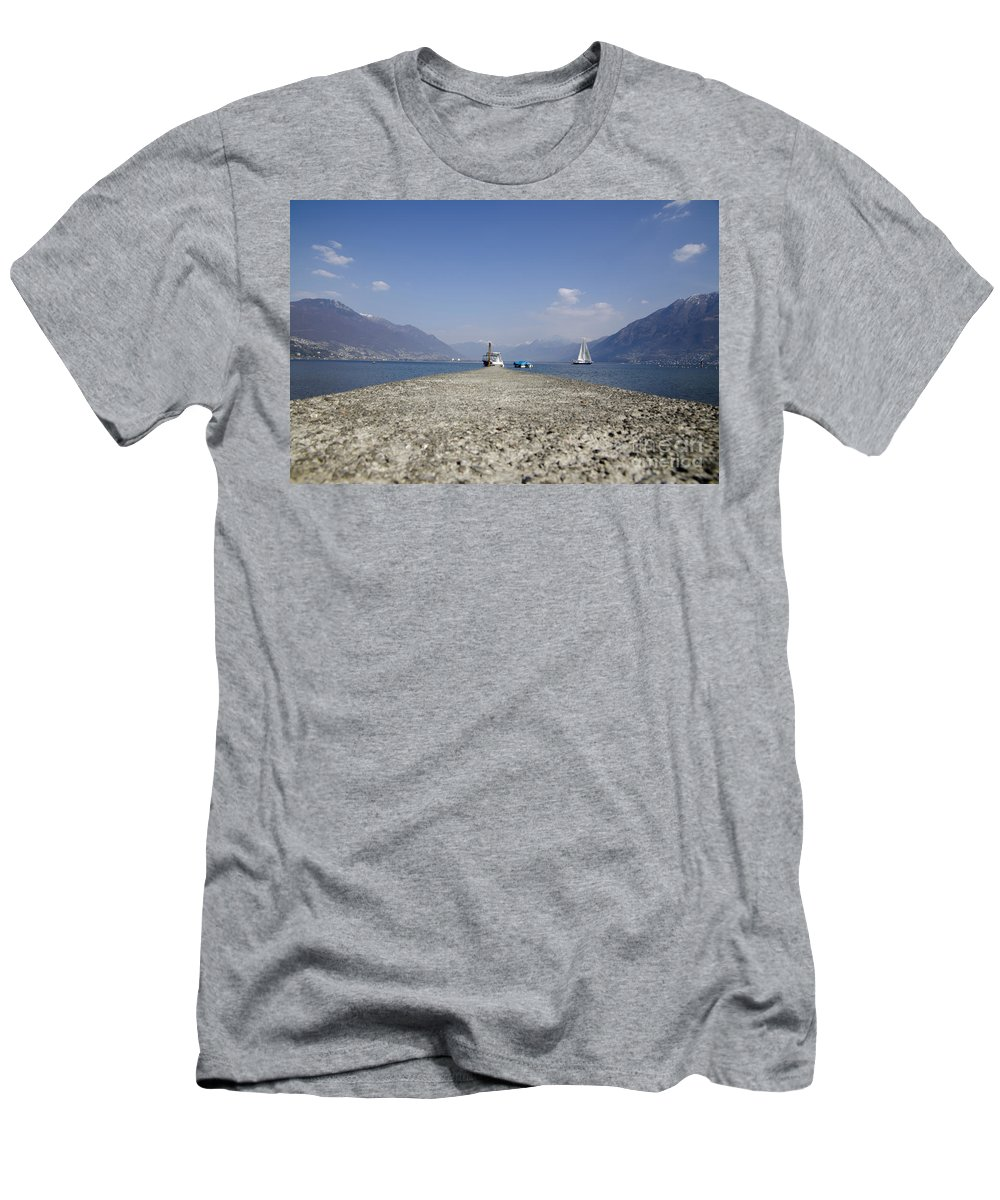 Port Men's T-Shirt (Athletic Fit) featuring the photograph Small Port by Mats Silvan