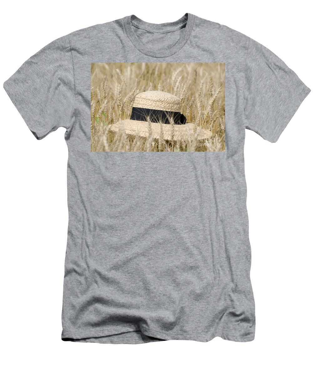 Straw Hat Men's T-Shirt (Athletic Fit) featuring the photograph Straw Hat by Mats Silvan