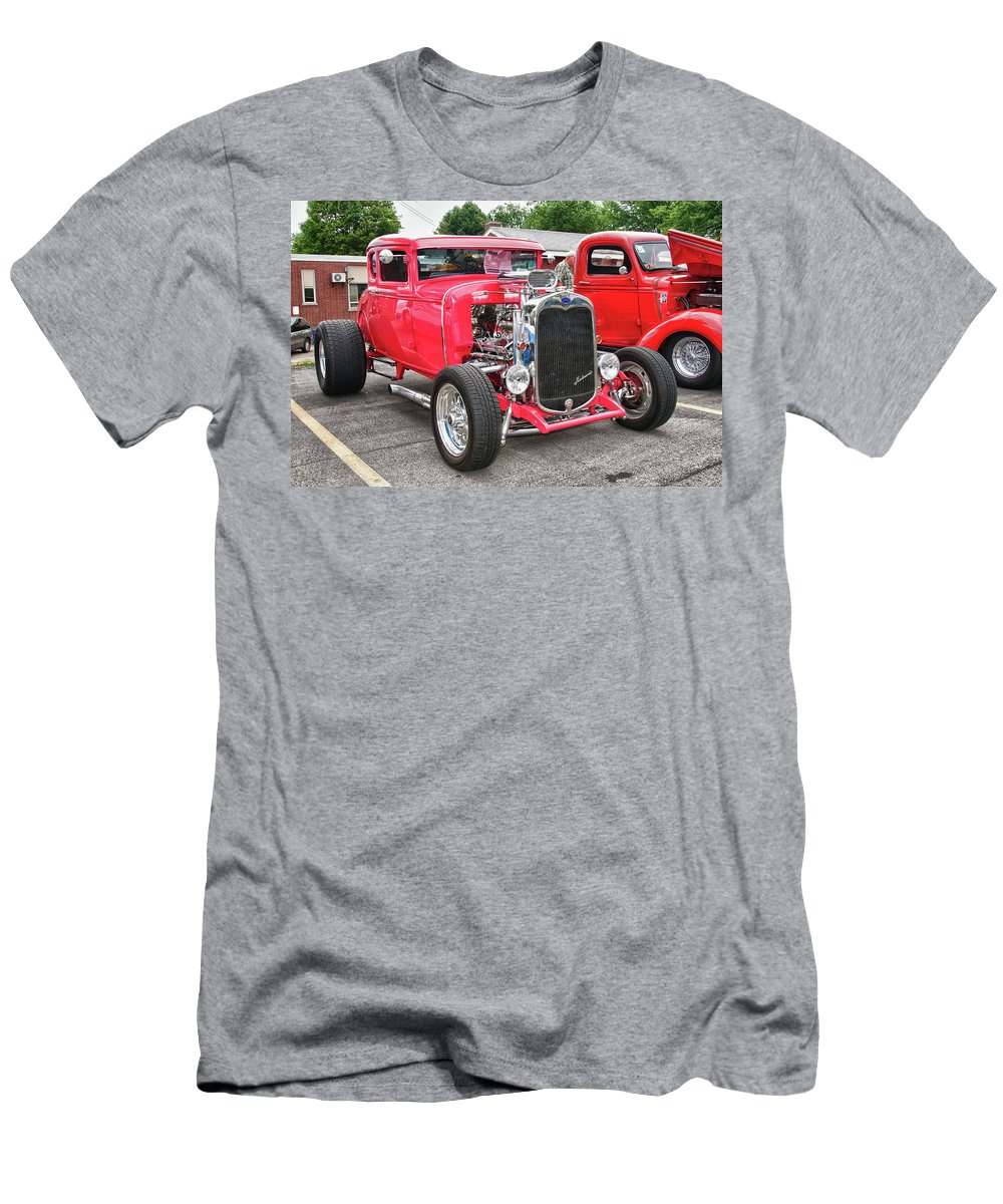 Automobile Men's T-Shirt (Athletic Fit) featuring the photograph 1930 Ford  7779 by Guy Whiteley