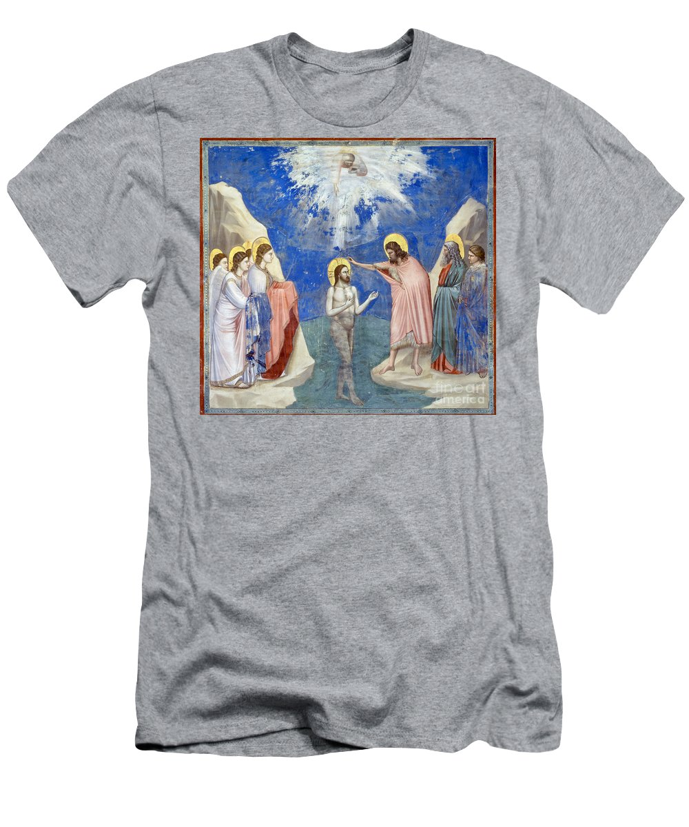 1304 Men's T-Shirt (Athletic Fit) featuring the photograph Baptism Of Christ by Granger
