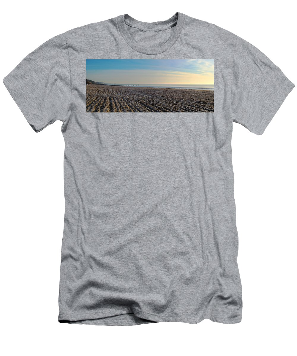 Bournemouth Beach Men's T-Shirt (Athletic Fit) featuring the photograph Bournemouth Beach by Chris Day
