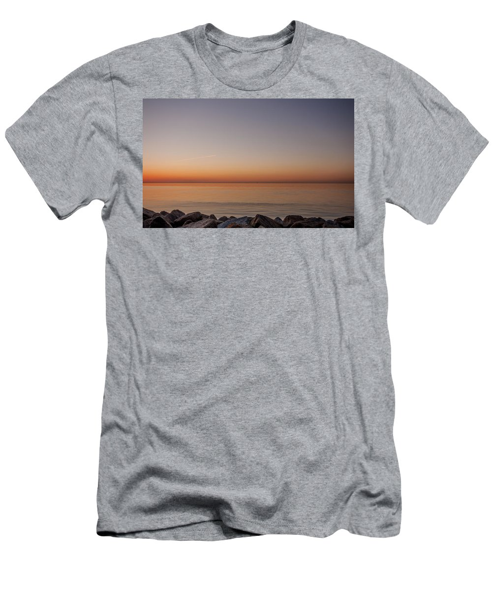 Thanet Men's T-Shirt (Athletic Fit) featuring the photograph Reculver Sunset by Dawn OConnor