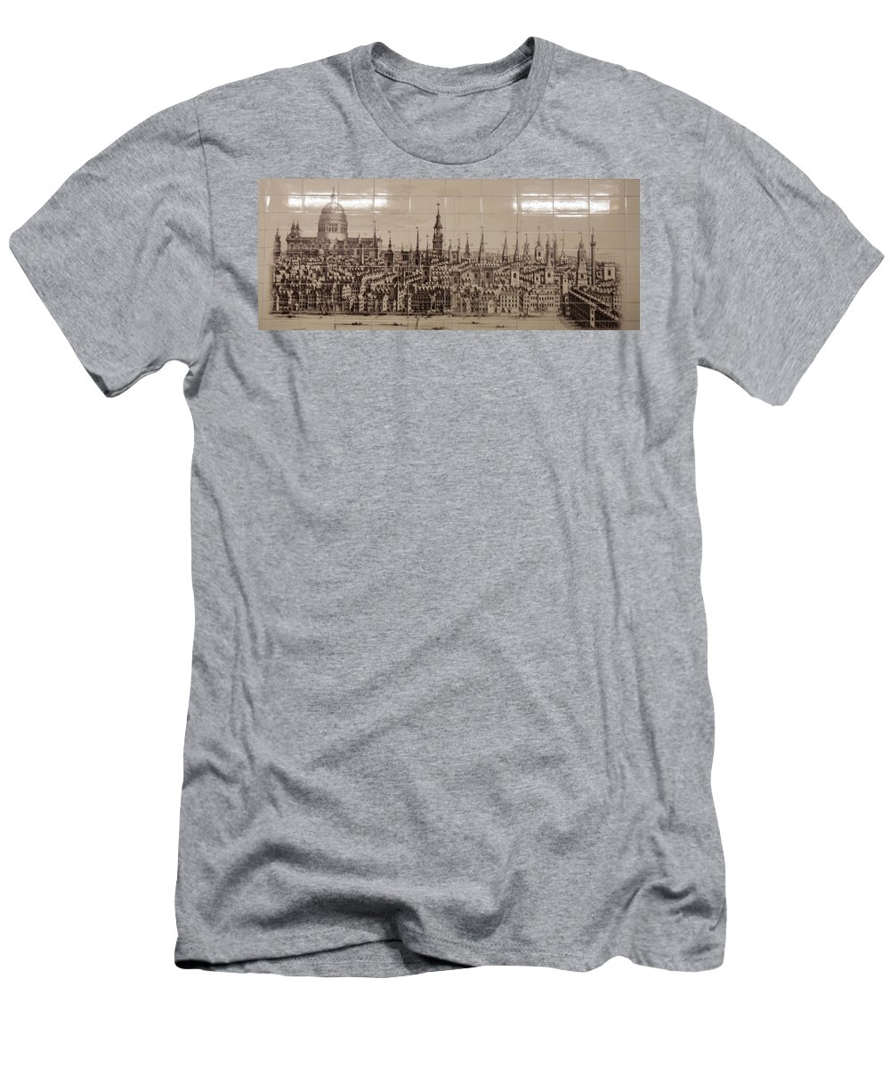 Southwark Bridge Men's T-Shirt (Athletic Fit) featuring the photograph Southwark Bridge Artwork by Dawn OConnor