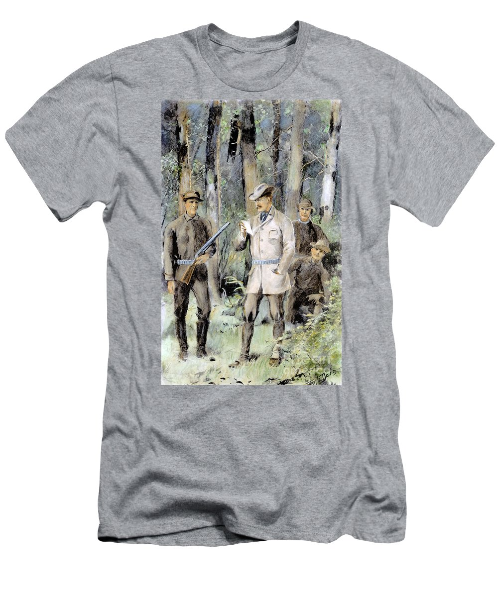 1901 Men's T-Shirt (Athletic Fit) featuring the photograph Theodore Roosevelt by Granger