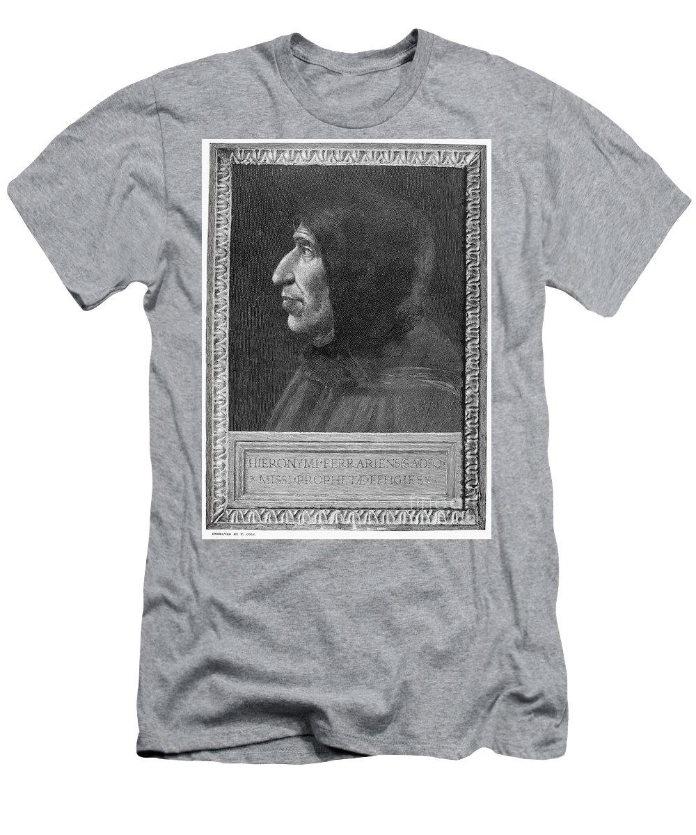15th Century Men's T-Shirt (Athletic Fit) featuring the photograph Girolamo Savonarola by Granger