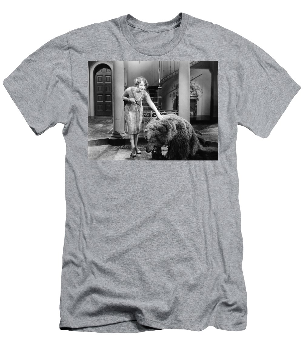 -zoology- Men's T-Shirt (Athletic Fit) featuring the photograph Silent Film Still: Animal by Granger