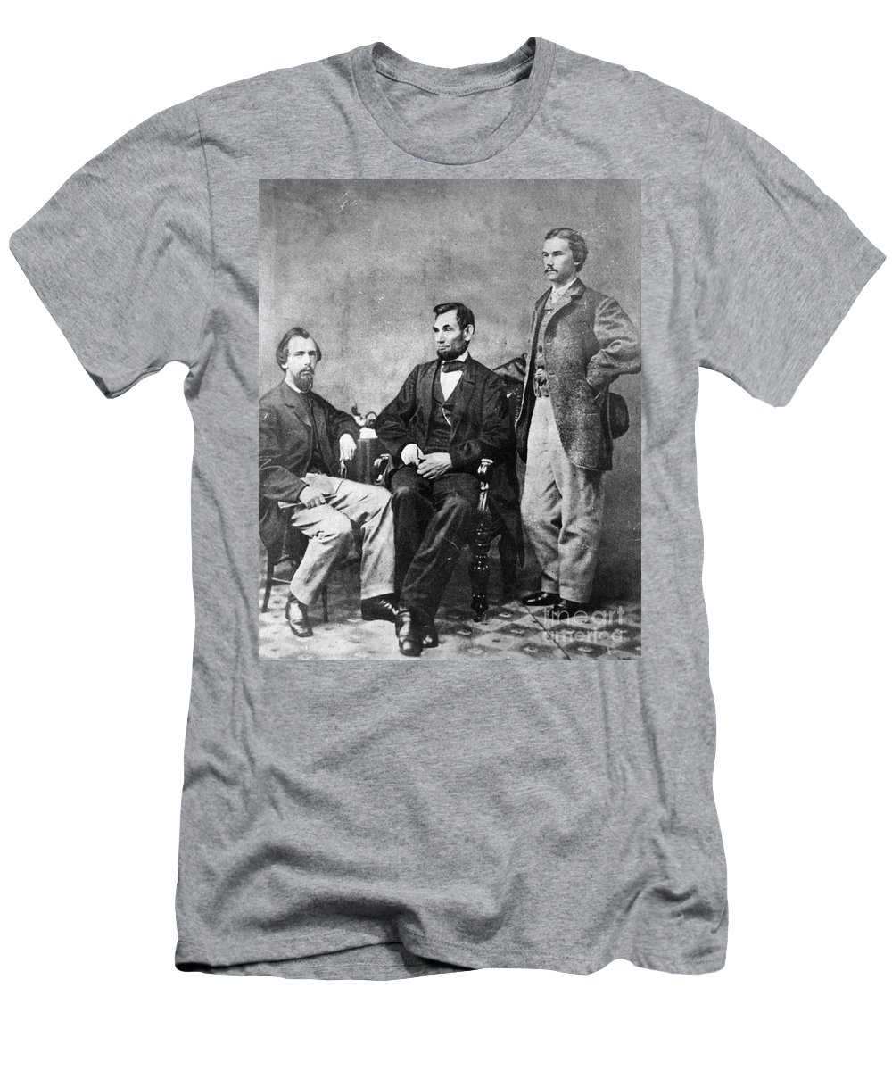 1863 Men's T-Shirt (Athletic Fit) featuring the photograph Abraham Lincoln by Granger