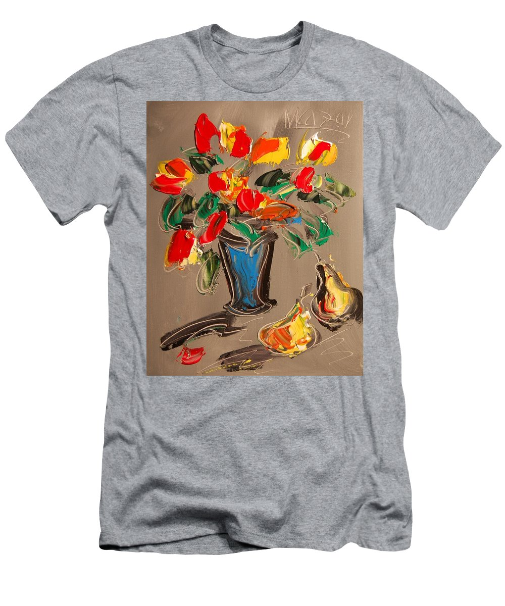 Men's T-Shirt (Athletic Fit) featuring the mixed media Tulips by Mark Kazav