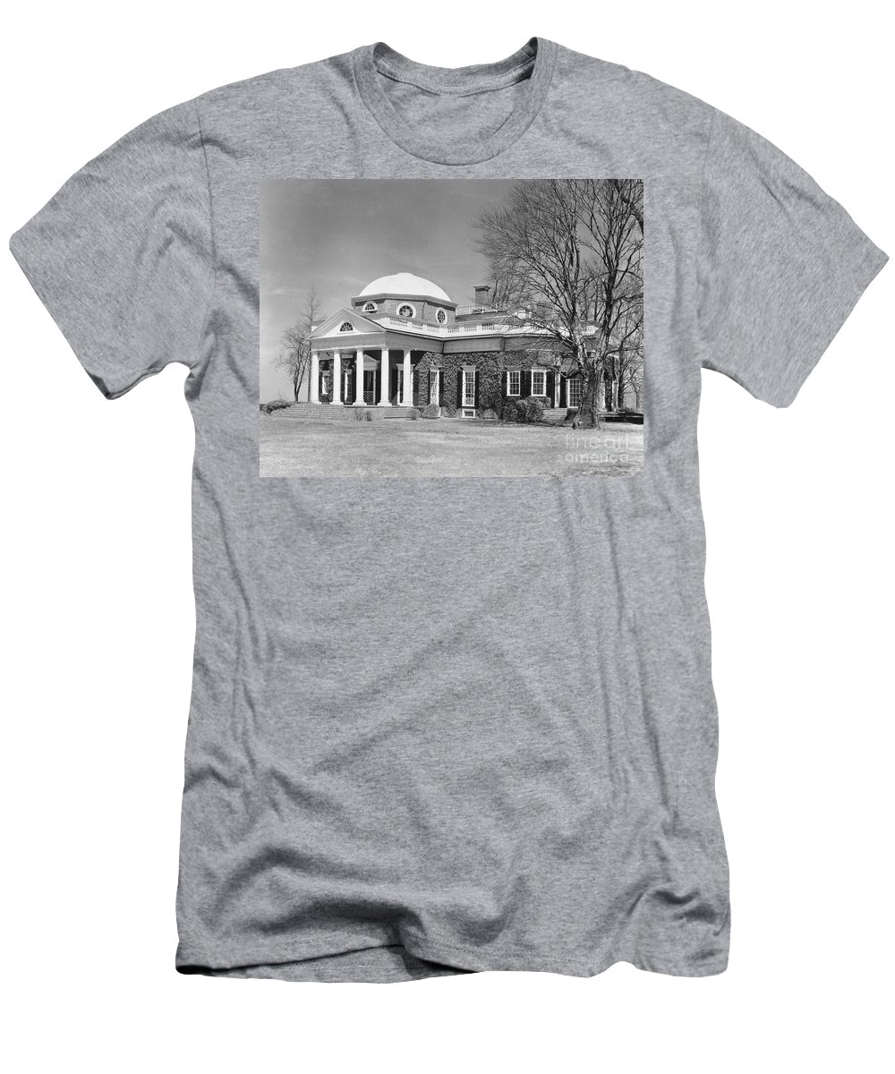18th Century Men's T-Shirt (Athletic Fit) featuring the photograph Jefferson: Monticello by Granger