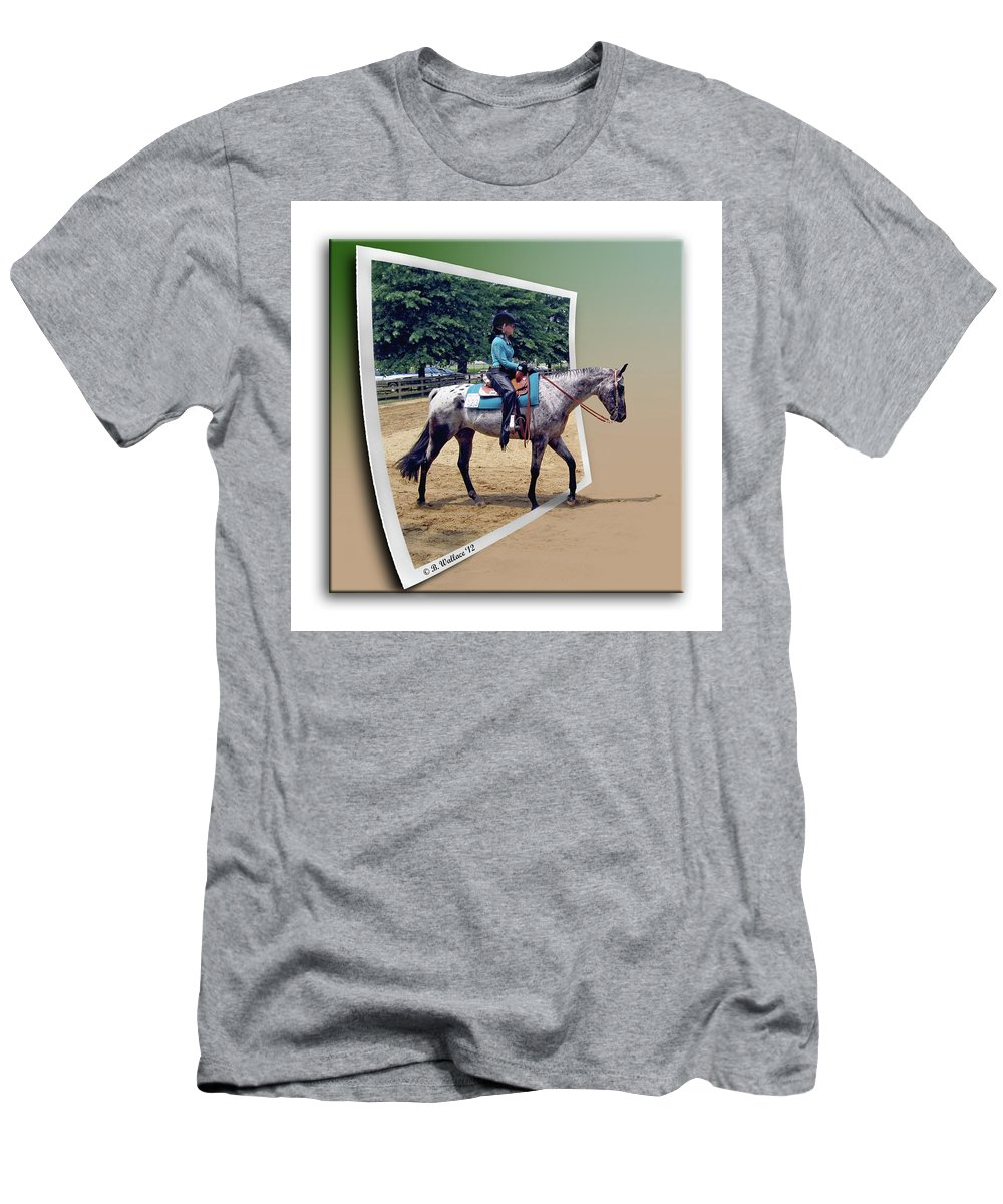 2d Men's T-Shirt (Athletic Fit) featuring the photograph 4h Horse Competition by Brian Wallace
