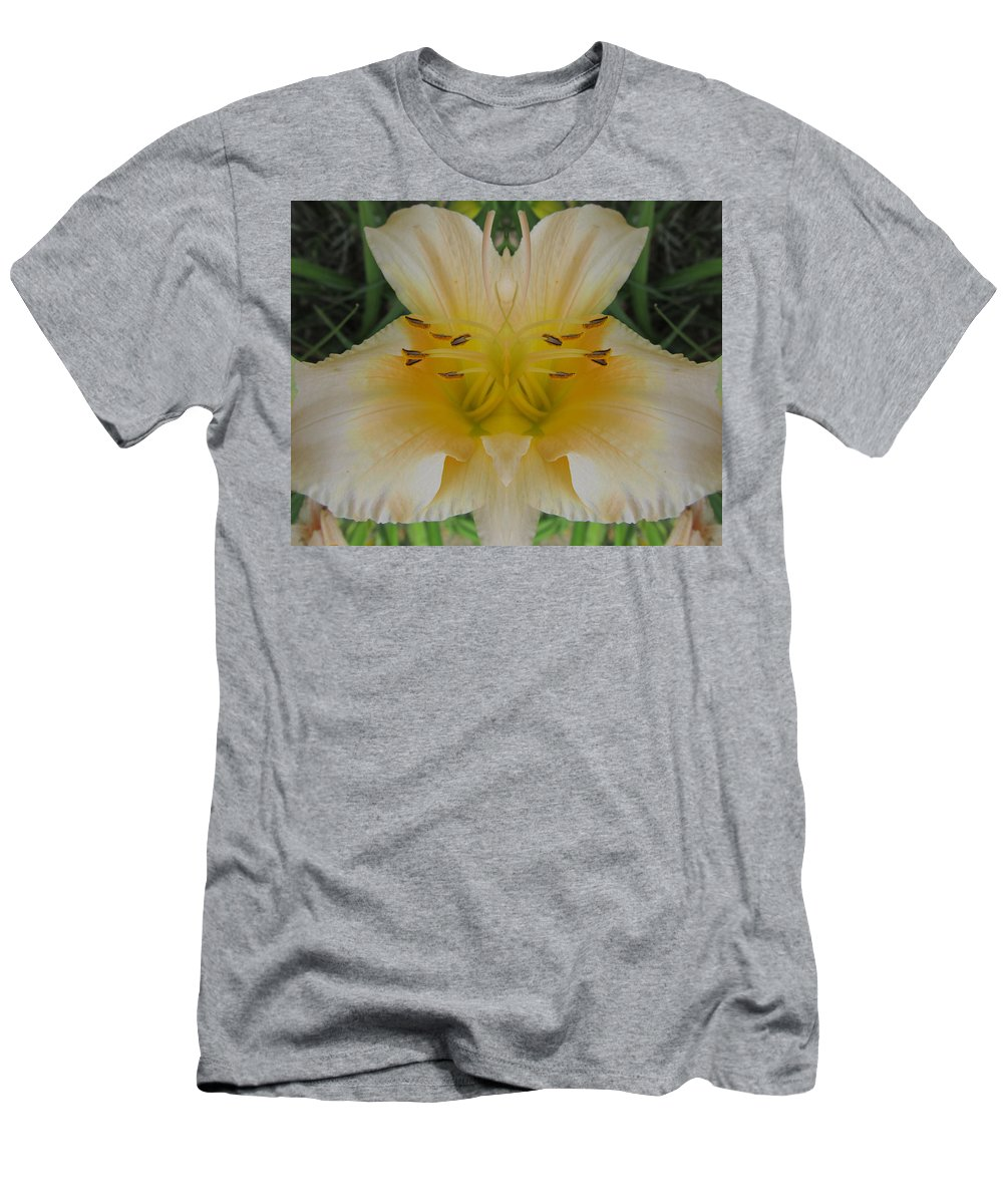 Color Blend Men's T-Shirt (Athletic Fit) featuring the photograph Angelic Lily by Michele Caporaso