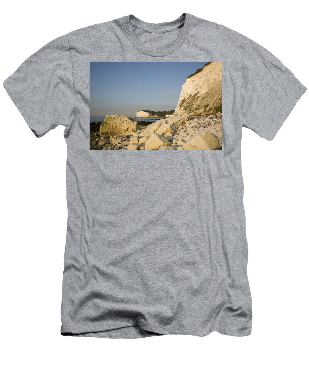 Dover Men's T-Shirt (Athletic Fit) featuring the photograph Morning At The White Cliffs Of Dover by Ian Middleton