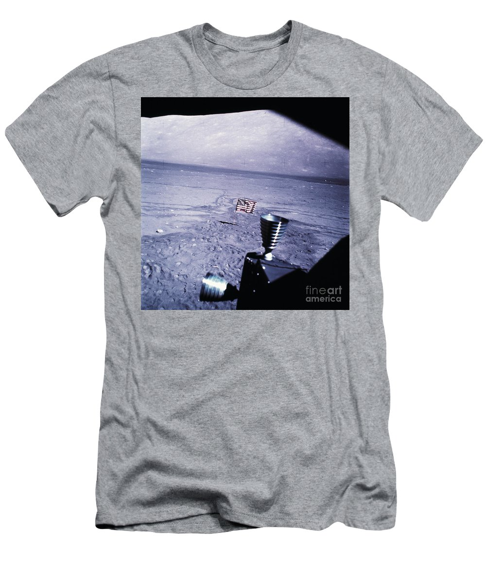 Apollo 17 Men's T-Shirt (Athletic Fit) featuring the photograph Apollo Mission 17 by Nasa