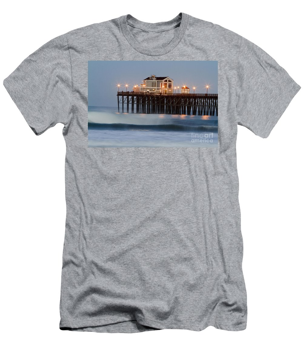 Oceanside Men's T-Shirt (Athletic Fit) featuring the photograph 8039 by Daniel Knighton