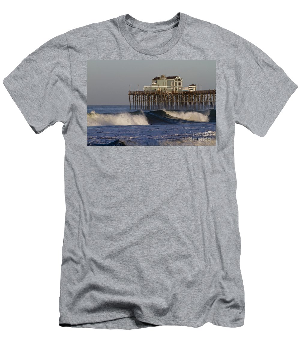 Oceanside Men's T-Shirt (Athletic Fit) featuring the photograph 8047 by Daniel Knighton