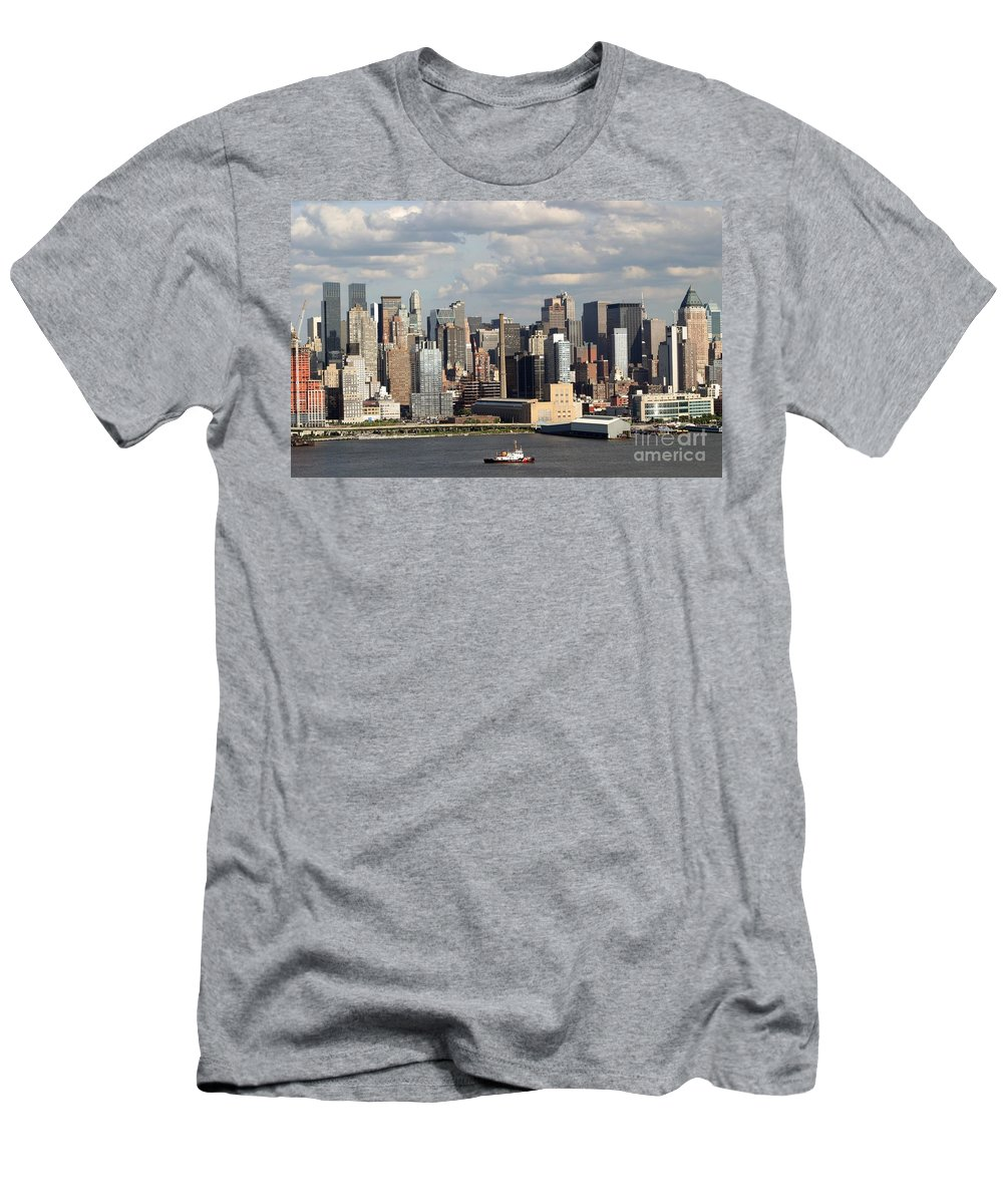 New York City Men's T-Shirt (Athletic Fit) featuring the photograph A New York City Afternoon by Living Color Photography Lorraine Lynch