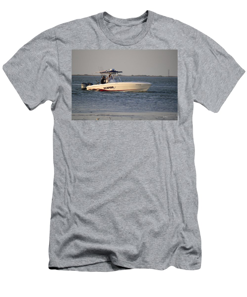 Roena King Men's T-Shirt (Athletic Fit) featuring the photograph A Proper Fishing Boat by Roena King