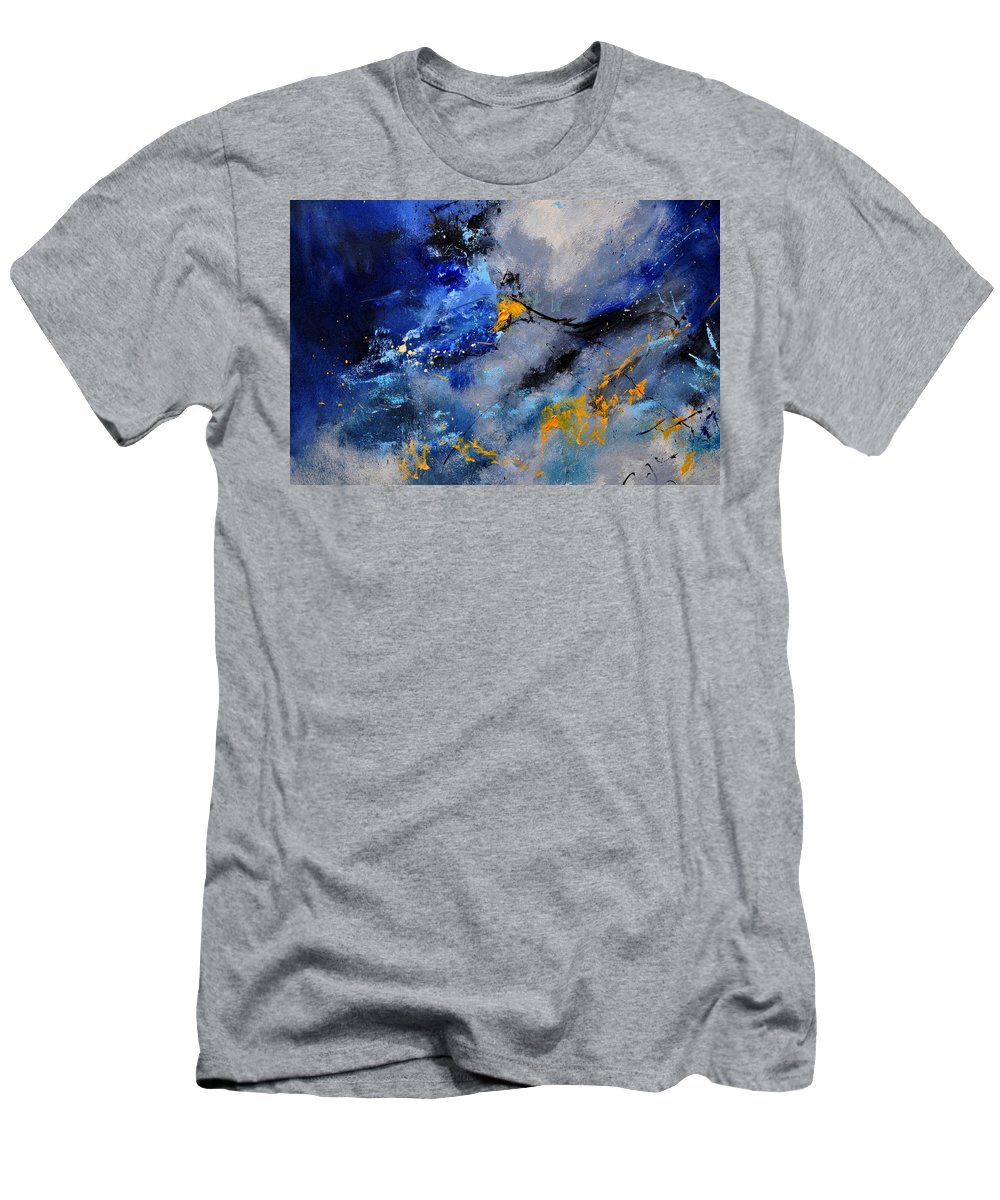 Abstract Men's T-Shirt (Athletic Fit) featuring the painting Abstract 771190 by Pol Ledent